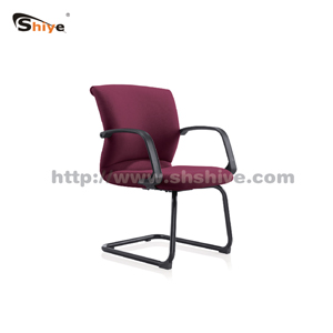 红色弓形办公椅