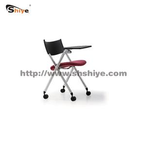 滑轮带餐桌休闲折叠椅
